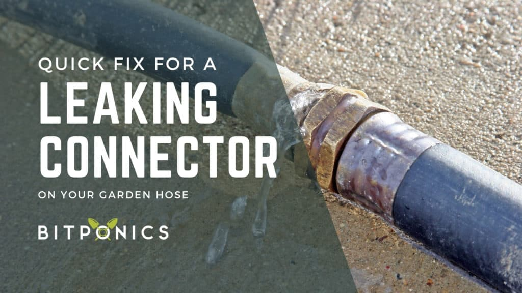 How To Fix A Leaking Garden Hose Connector