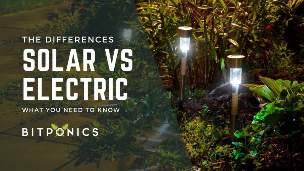 The Difference Between Outdoor Solar Lights & Electric Lights